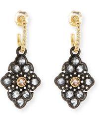 Armenta - Old World Garnet & Diamond Scroll Drop Earrings - Lyst