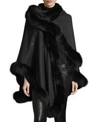Sofia Cashmere - Fox Fur & Cashmere U-cape - Lyst