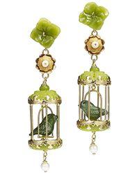 Of Rare Origin - Aviary Classic Jade & Pearl Earrings - Lyst