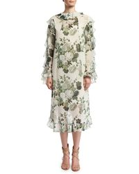 Robert Rodriguez | Ruffled Low-high Hem Midi Dress | Lyst