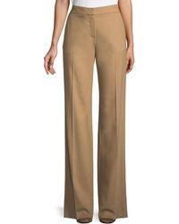Max Mara - High-waist Wide-leg Camel Hair Pants - Lyst