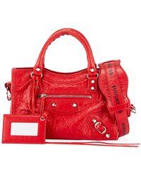 30e6d5583b Balenciaga - Classic Mini City Aj Shoulder Bag - Lyst