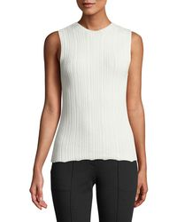 Theory - Novelty Crewneck Prosecco Pointelle Shell Top - Lyst