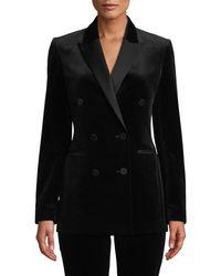 Theory - Stretch Velvet Tux Jacket - Lyst