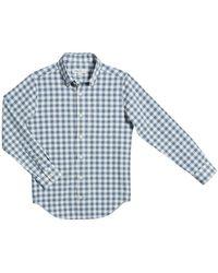 Peter Millar Boy's Gingham Button-down Shirt - Blue