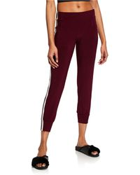 Norma Kamali - Mid-rise Side-striped Jog Pants - Lyst