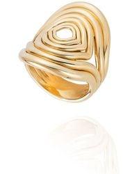 Fernando Jorge Rounded Lines 18k Gold Ring - Metallic