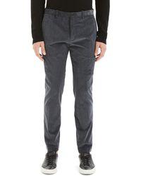 Theory Men's Zaine Dolsk Stretch-twill Trousers - Gray