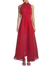 b92fc5a4e36 Beaufille - Venus Sleeveless Textured Chiffon Dress - Lyst