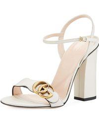Gucci Marmont Leather Sandals - Multicolour