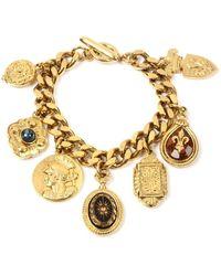 Ben-Amun Royal Queen Charm Bracelet - Metallic