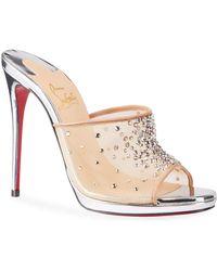 e7b95990460 Christian Louboutin Alarc Spike Crisscross Red Sole Sandal in ...