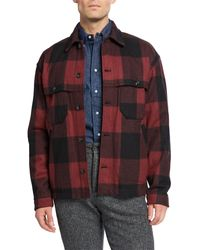 Woolrich Men's Buffalo Stag Over Shirt - Red