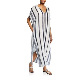 Tory Burch - Awning Stripe Cover-up Caftan Maxi Dress - Lyst