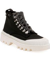 Proenza Schouler Nylon High-top Platform Sneakers - Black
