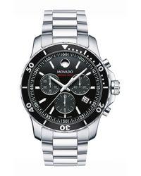 Movado Series 800 Chronograph Watch - Black