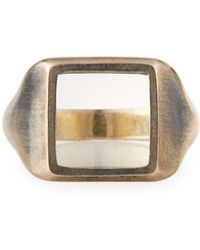 M. Cohen Men's The Zenith Oxidized Silver Ring - Metallic