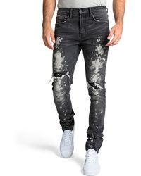 PRPS - Men's Windsor Fit Bleached Denim Jeans With Rib/repair - Lyst