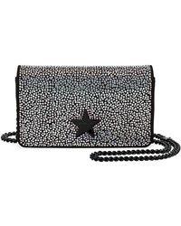 Stella McCartney - Mini Stella Star Rhinestone Shoulder Bag - Lyst