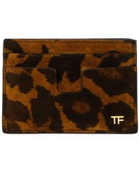 Tom Ford - Men's Leopard-print Leather Card Holder - Lyst
