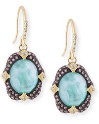 Armenta - Old World Midnight Oval Crivelli Earrings With Diamonds - Lyst