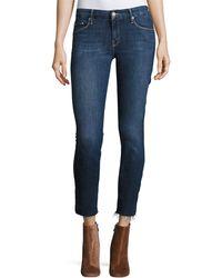 Mother - The Looker Ankle Fray Girl-crush Denim Jeans - Lyst