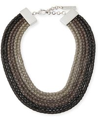 Lafayette 148 New York - Mesh Net Beaded Statement Necklace - Lyst