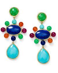 Ippolita Nova Satellite Beads Post Drop Earrings - Blue