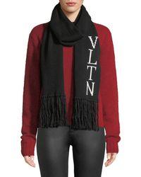 Valentino - Vltn Knitted Scarf - Lyst