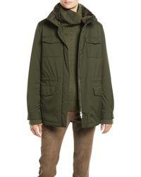 Loro Piana - Zip-front Four-pocket Nylon Traveller Coat W/ Nutria Fur - Lyst