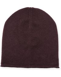 Vince - Cashmere-blend Solid Beanie Hat - Lyst