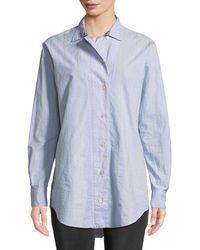 Forte Forte - Oversized Striped Poplin Shirt - Lyst