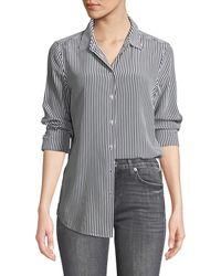 Equipment - Essential Button-front Striped Silk Shirt - Lyst