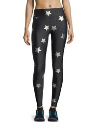 Terez - Star Foil Printed Tall Band Performance Leggings - Lyst