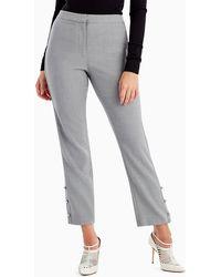 Jason Wu - Straight-leg Crop Pants With Button Trim - Lyst