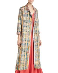 Forte Forte - Sea Roses Jacquard Open-front Long Coat - Lyst
