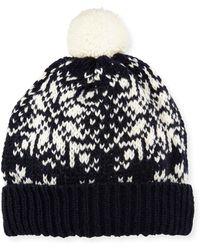 Thom Browne - Snowflake Fair Isle Knit Hat W  Pompom - Lyst 84de4d741bd3