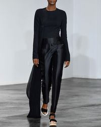 Gabriela Hearst - Epheus Silk-wool Jumpsuit W/ Plisse Drape - Lyst