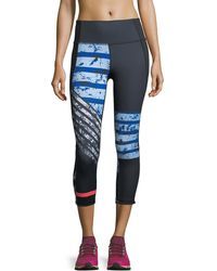 Under Armour - Mirror High-rise Printed Crop Leggings - Lyst