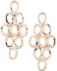 Ippolita - Rose Gold Open Cascade Post Earrings - Lyst