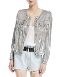 IRO - Dalome Button-front Sequined Jacket - Lyst
