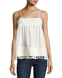 The Great - The Park Pleated-trim Tank - Lyst