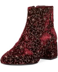 Ash   Diamond Bis Embroidered Velvet Boot   Lyst