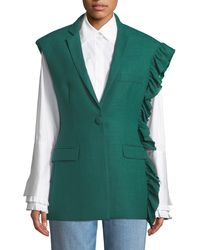 Maggie Marilyn - Girl With A Dream Shoulder-ruffle Wool Vest - Lyst