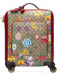 Gucci GG Supreme Flora Carry-on Trolley Suitcase Luggage - Multicolour