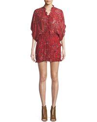 IRO - Bamanta Half-sleeve Paisley-print Short Dress - Lyst