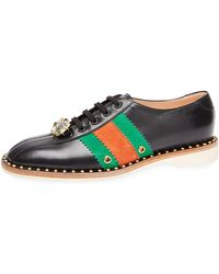 Gucci - Leather Lace-up Bowling Shoe Trainers - Lyst