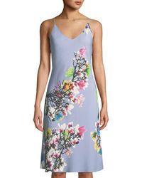 Natori - Garbo V-neck Floral-print Nightgown - Lyst