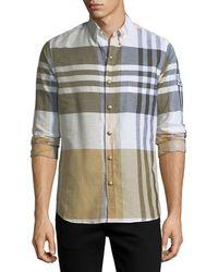 Moncler Gamme Bleu - Macro-check Snap-front Shirt - Lyst