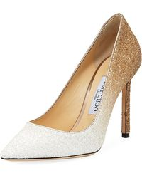 Jimmy Choo - Romy 100mm Ombre Glitter Pumps - Lyst